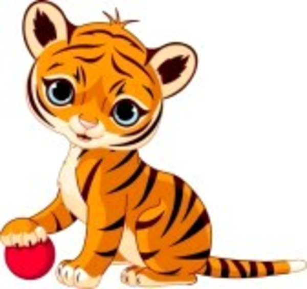 Cute Baby Tiger Cartoon   Free Images At Clker Com   Vector Clip Art