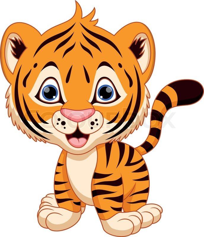 Cute Tiger Clipart - Clipart Kid