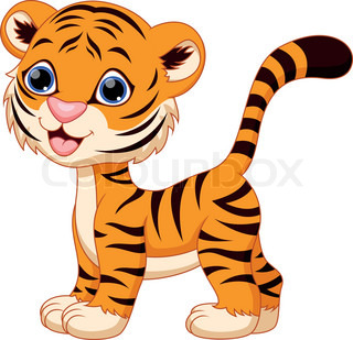 Cute Tiger Clipart - C...