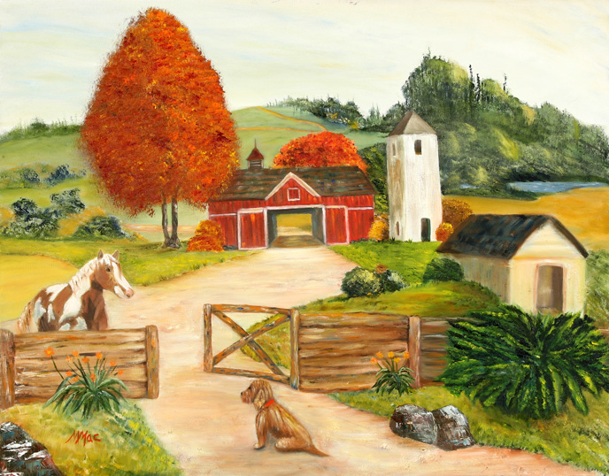 Farm Scene Drawings Http   Maryannmcnamaraart Com Photo Html