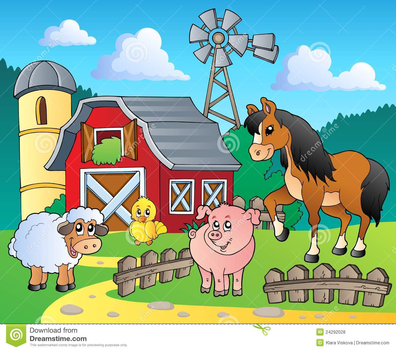 Farm Theme Image 4 Royalty Free Stock Photos   Image  24292028