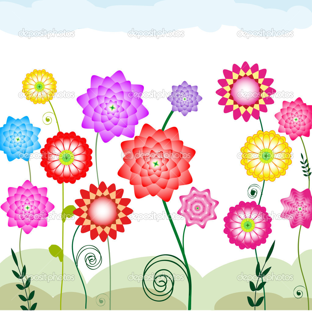 Flower Bed Clipart Flowerbed   Stock Illustration
