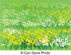 Flower Bed Clipart Vector
