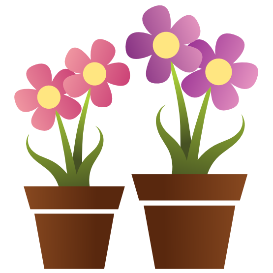 clipart flower in pot - photo #12