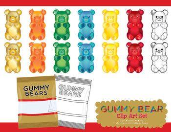 Clip Art Gummy Bear Clip Art gummy bear clipart kid clip art set work sets bears clip