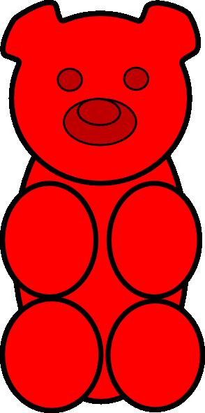 Clip Art Gummy Bear Clip Art red gummy bear clipart kid clip art