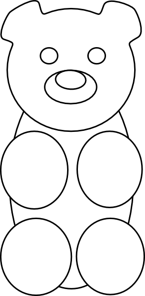 Gummy Bear Outline Clip Art At Clker Com   Vector Clip Art Online