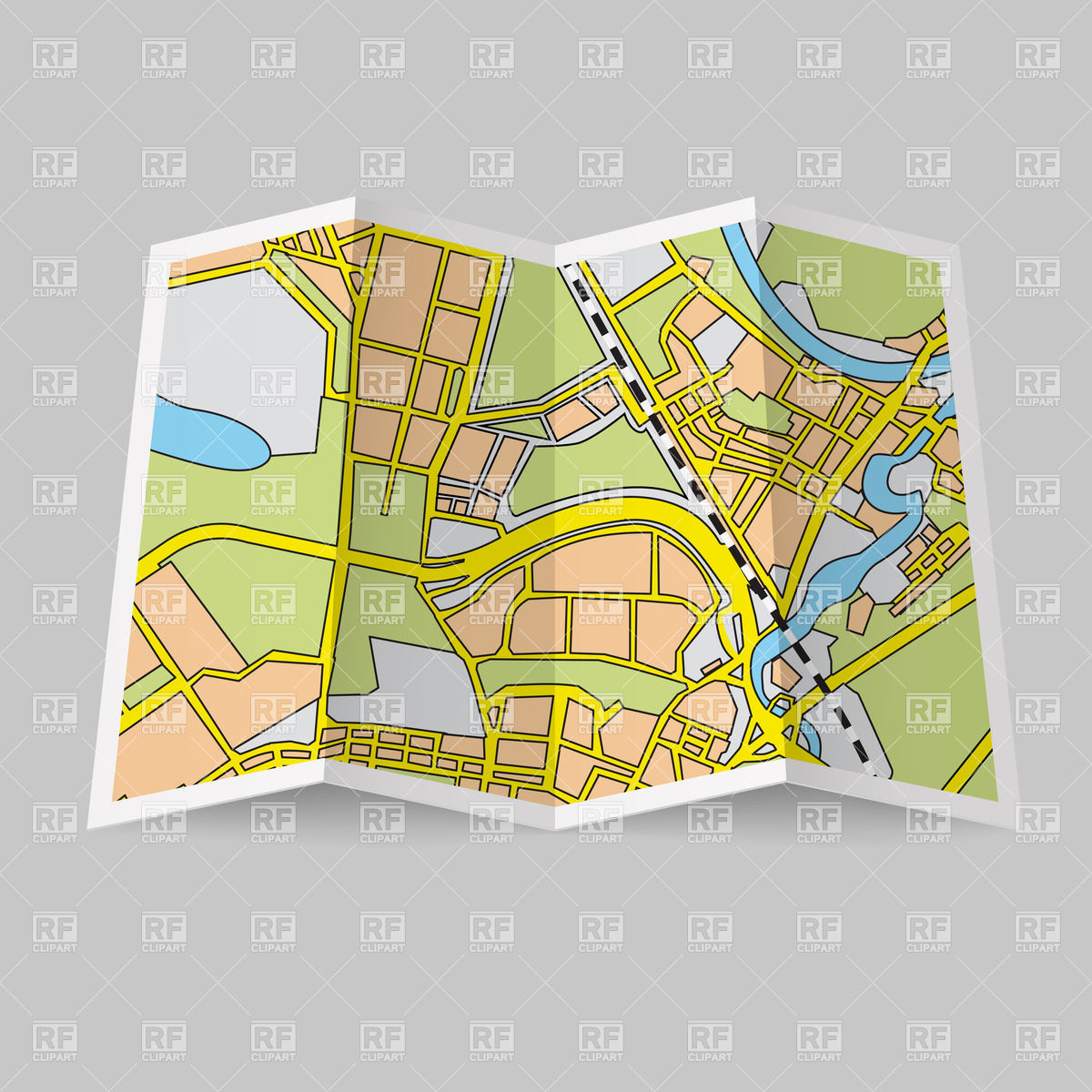 Map On Grey Background Download Royalty Free Vector Clipart  Eps