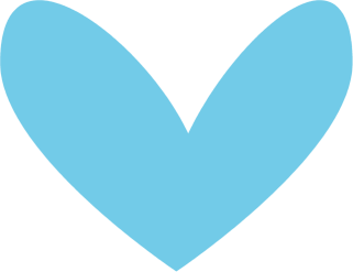 Modern Blue Heart Clip Art Image   Plain And Simple Blue Colored Heart
