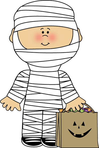 Mummy Boy Clip Art Image   Boy Dressed As A Mummy For Halloween With A