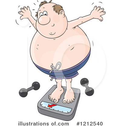 Overweight Clipart  1212540 By Alex Bannykh   Royalty Free  Rf  Stock