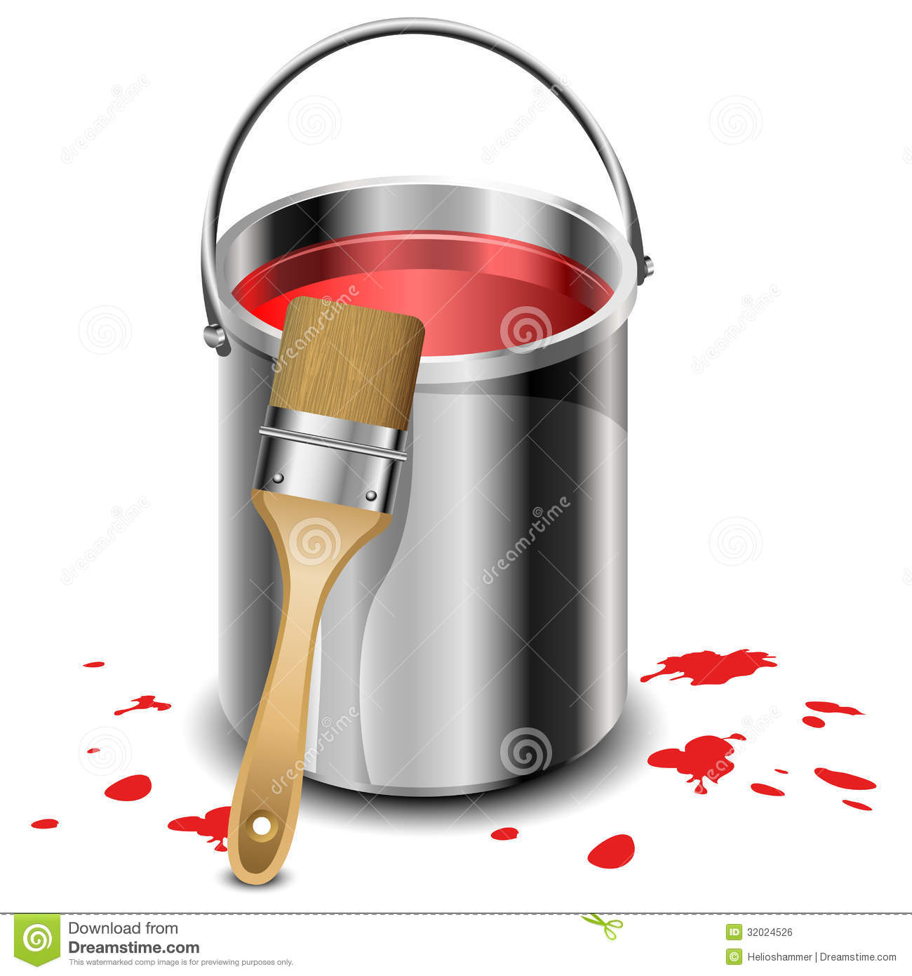 Paint Bucket Clip Art Black And White Paint Bucket Paint Brush Red