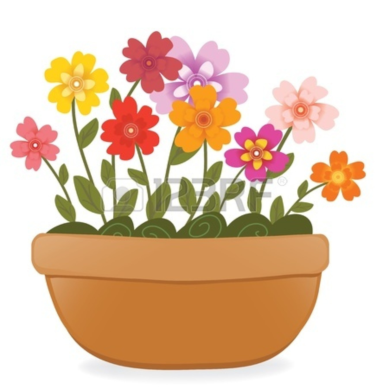 Potted Flower Clipart 18688688 Flower Pot Jpg