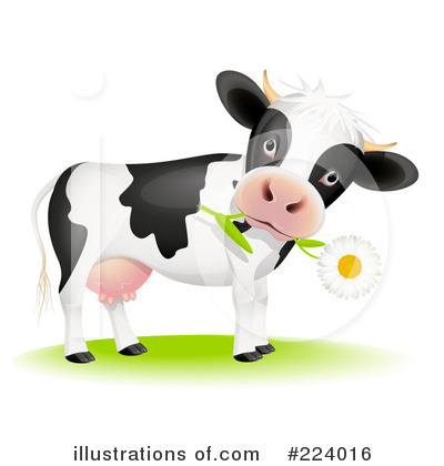 Royalty Free  Rf  Cow Clipart Illustration By Oligo   Stock Sample