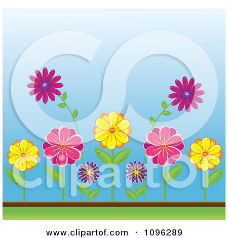 Royalty Free  Rf  Flower Bed Clipart Illustrations Vector Graphics