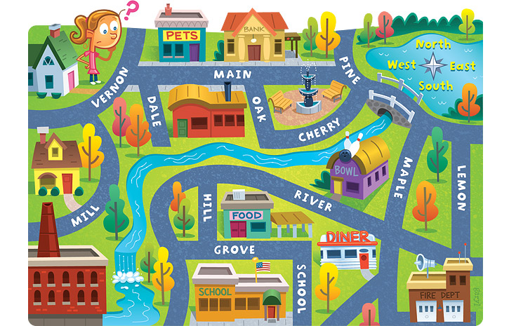 Street Map Clipart - Clipart Kid