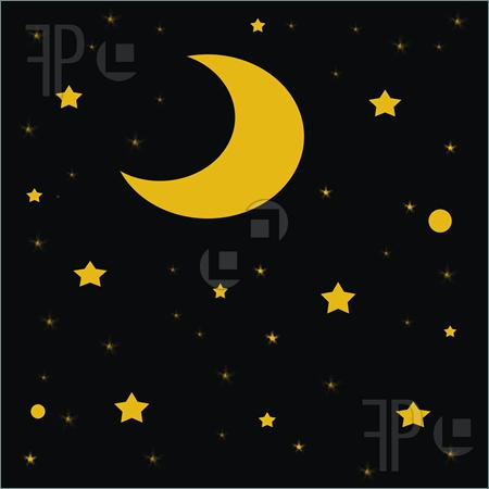Starry Night Sky Clip Art