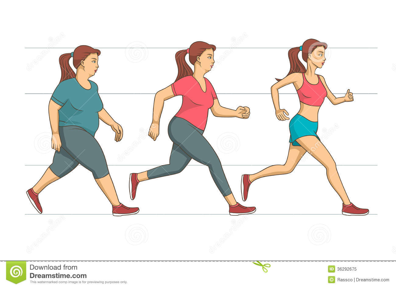 Weight Loss Before And After Clipart