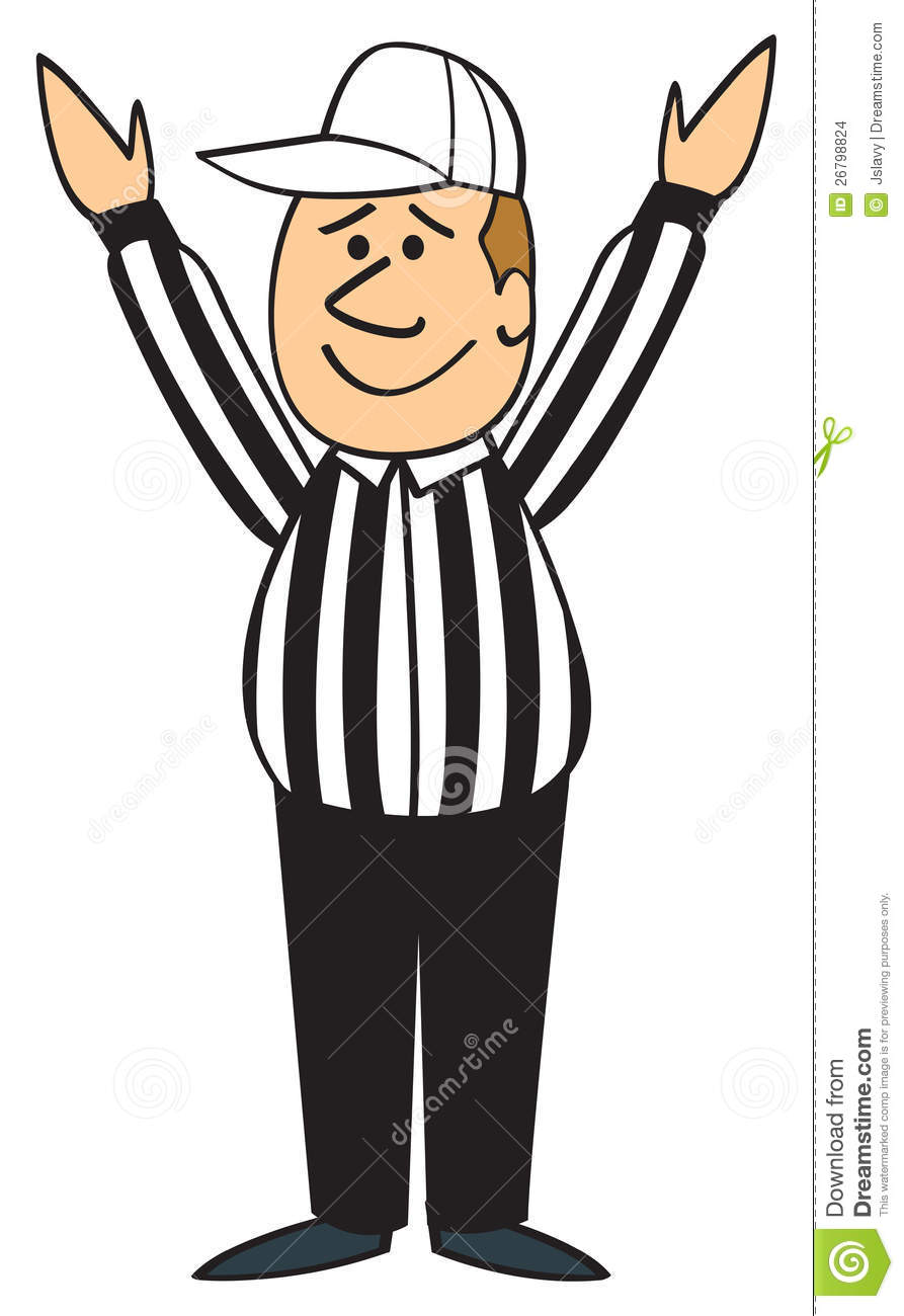 Clip Art Referee Clipart referee clipart kid cartoon football with his hands up signaling touchdown