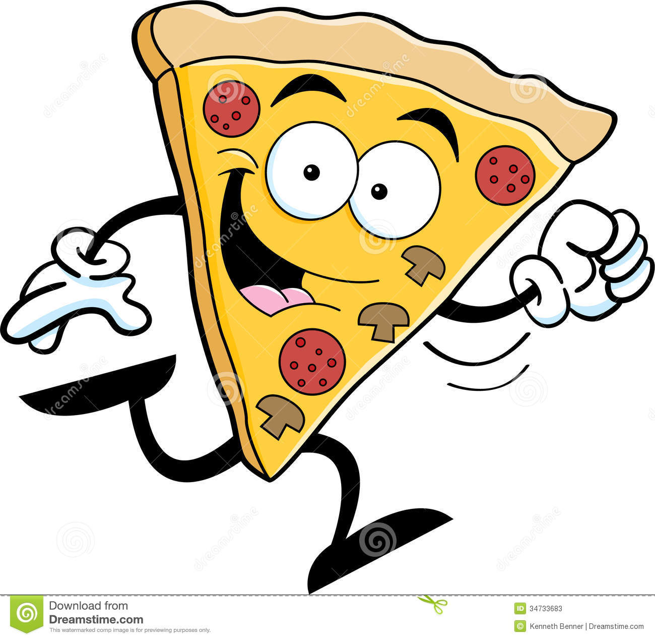 ... Pizza Running Stock Photos Image 34733683 #SFZTYa - Clipart Kid