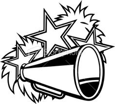 Cheer Megaphone Clipart Black And White   Clipart Panda   Free Clipart