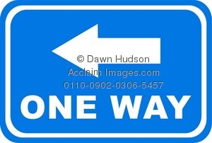 Clipart Illustration Of A One Way Arrow Sign   Acclaim Stock