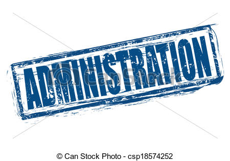 Clipart Vector Of Administration Grunge Stamp Whit On Vector