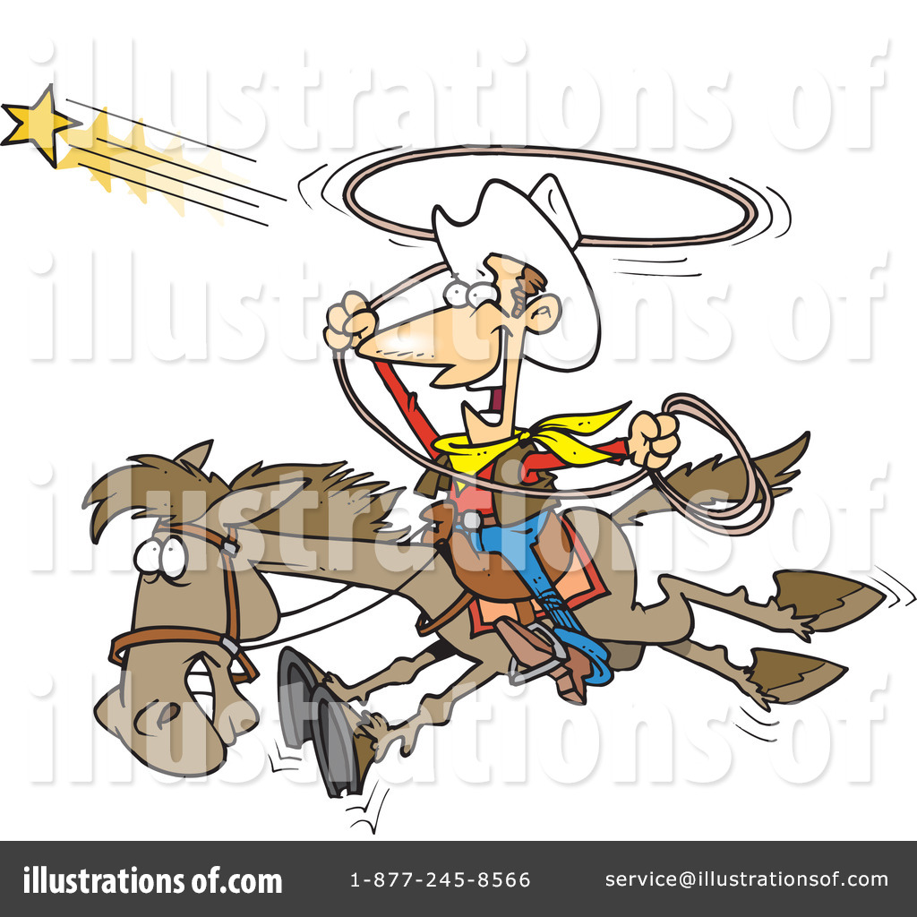 Cowboy Clipart  1048457 By Ron Leishman   Royalty Free  Rf  Stock