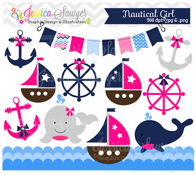 Jessica Sawyer Design  New  Boys And Girls Nautical Clipart