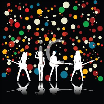 Kids Rock Band Clipart Girl Rock Group Background