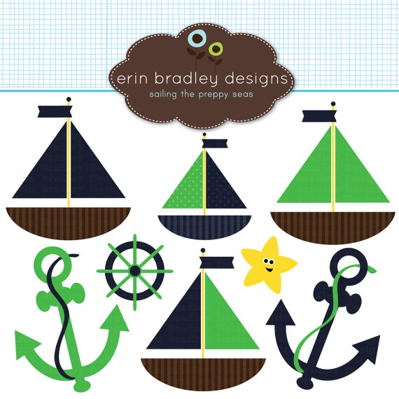 Nautical Boat Themed Clipart