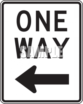 One Way Road Signs Clip Art