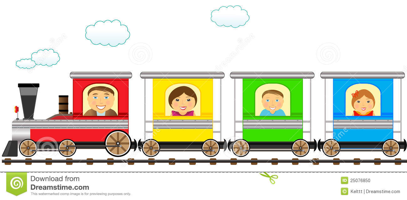 Passenger Train Clipart Colorful Family Train Railroad 25076850 Jpg