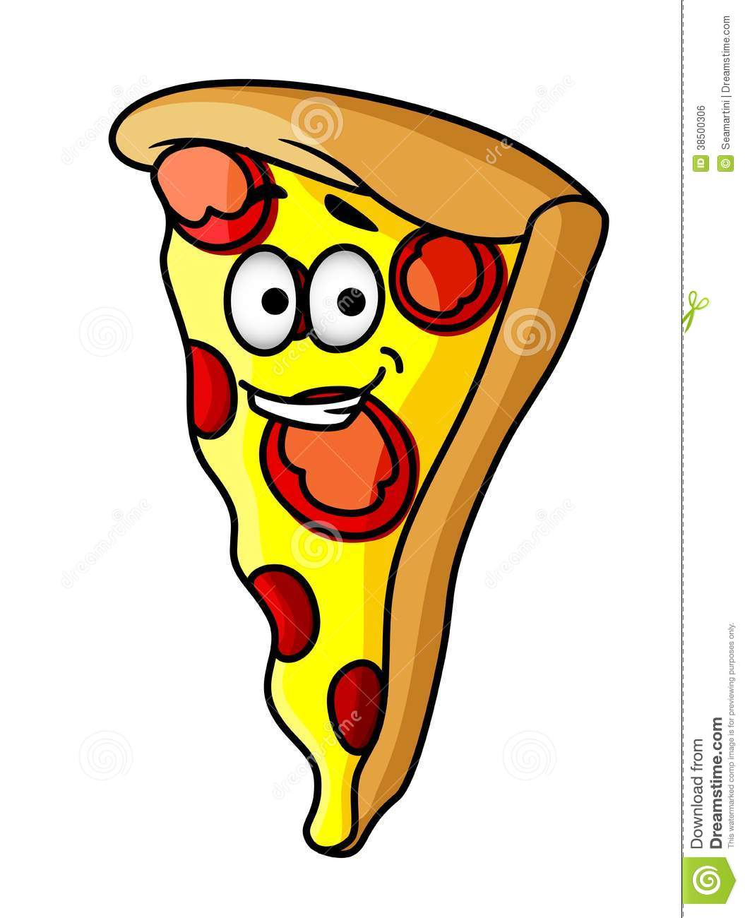 Pepperoni Pizza Slice Clipart - Clipart Suggest
