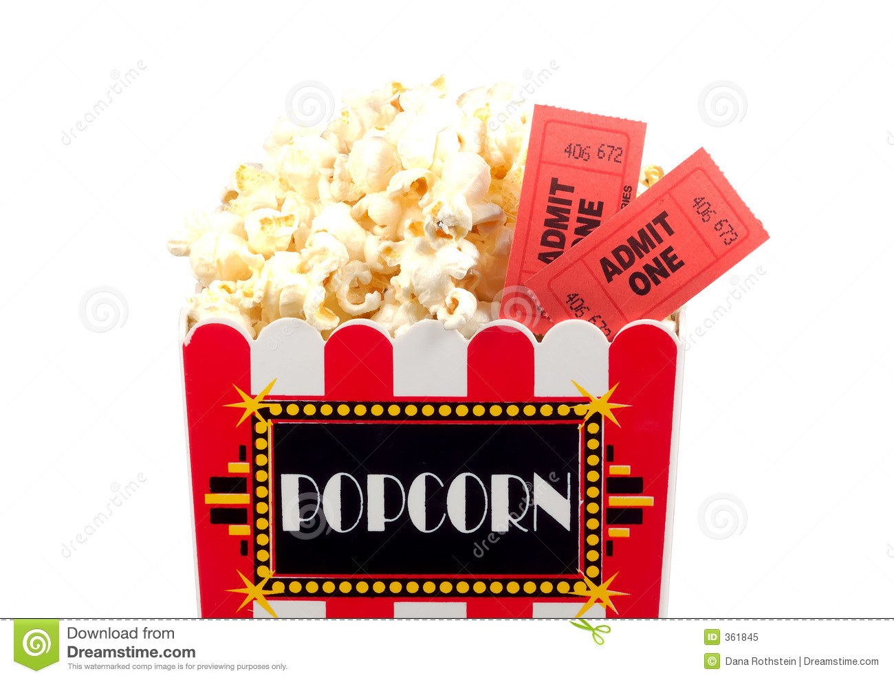 Popcorn And Tickets Royalty Free Stock Photo   Image  361845