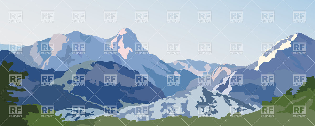 Related Pictures Clip Art Mountain Scene