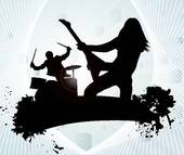 Rock Band Clipart Rock Band In Abstract