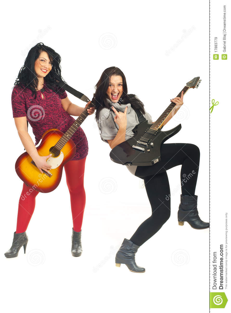 Rock Star Girl Clipart Comrock Stars Band Girls With