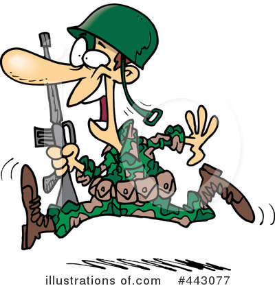 Royalty Free  Rf  Soldier Clipart Illustration By Dennis Cox   Stock