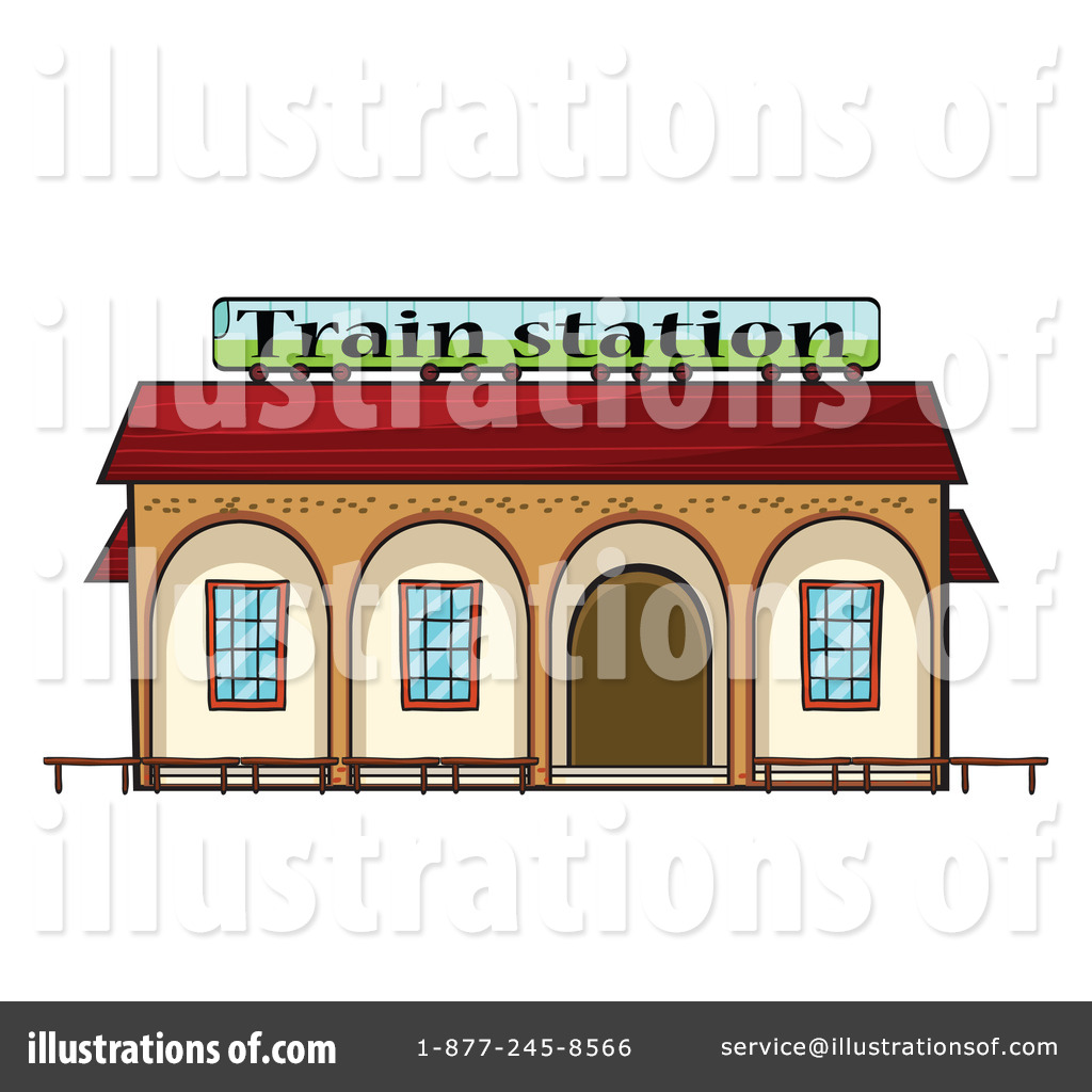 Royalty Free  Rf  Train Station Clipart Illustration By Colematt