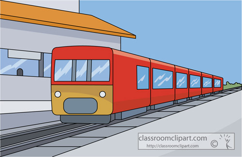 Train   Train Station Travel 02   Classroom Clipart