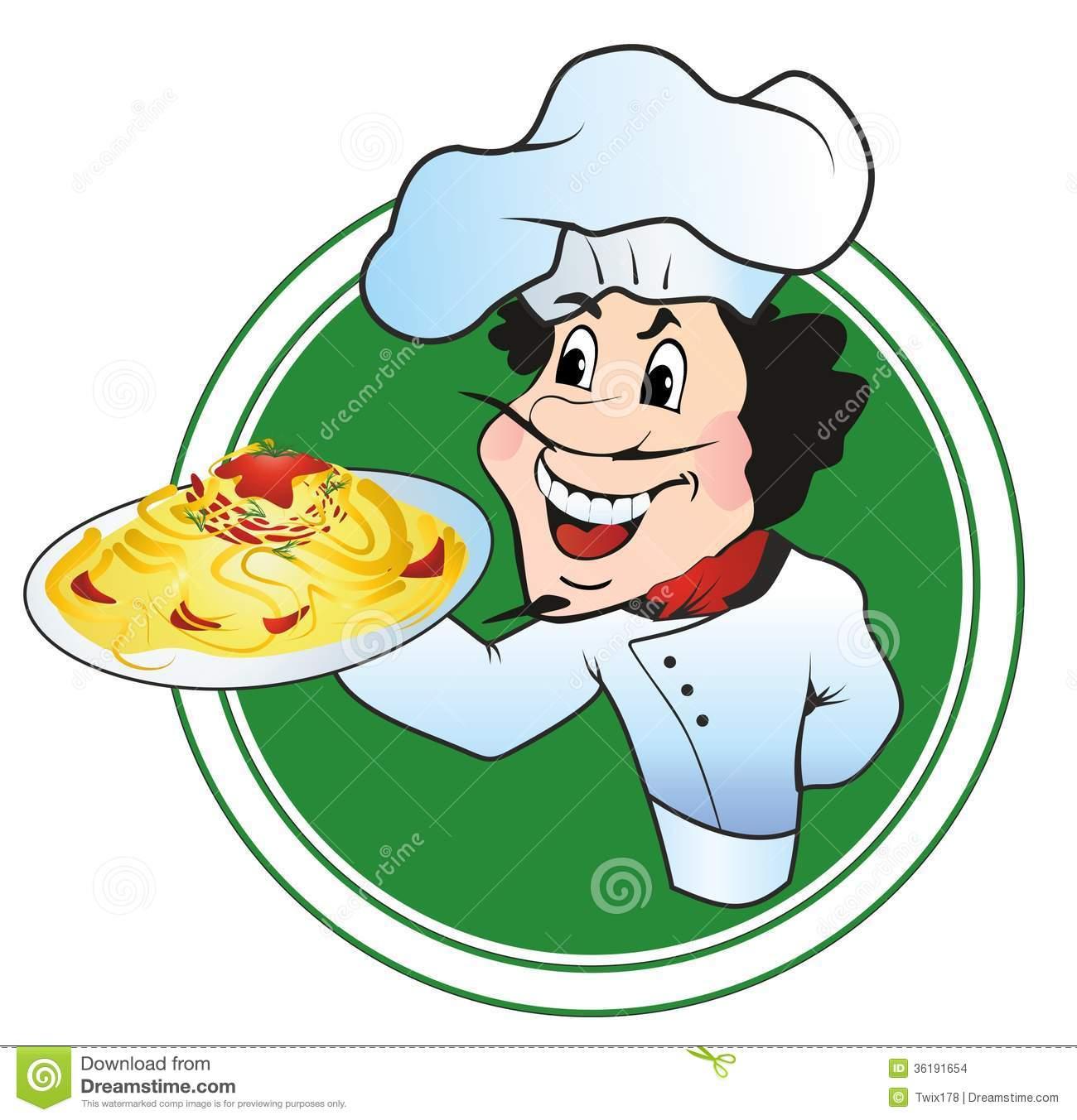 Spaghetti Italian Chef Clipart - Clipart Suggest