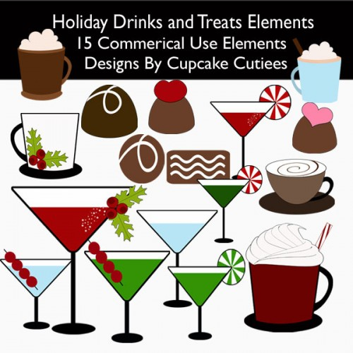 Christmas Drink Clipart Use
