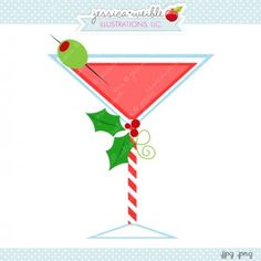 Clipart Digital Graphic  Christmas  Drinks  Diy  Crafts  Illustration