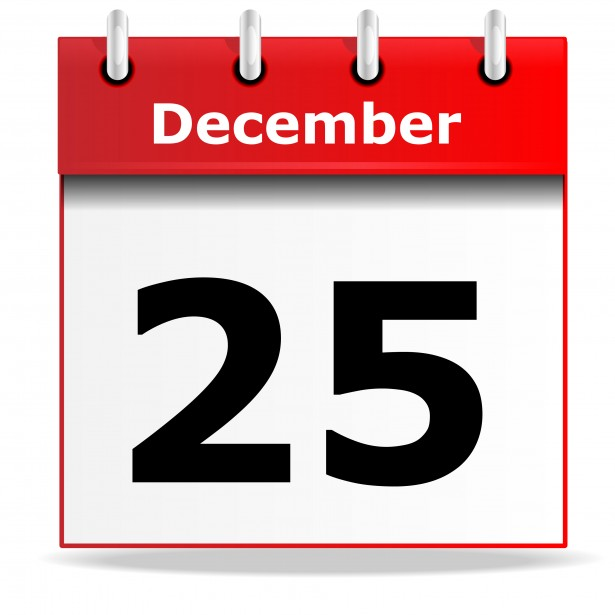 Desk Calendar Icon December 25th Free Stock Photo   Public Domain
