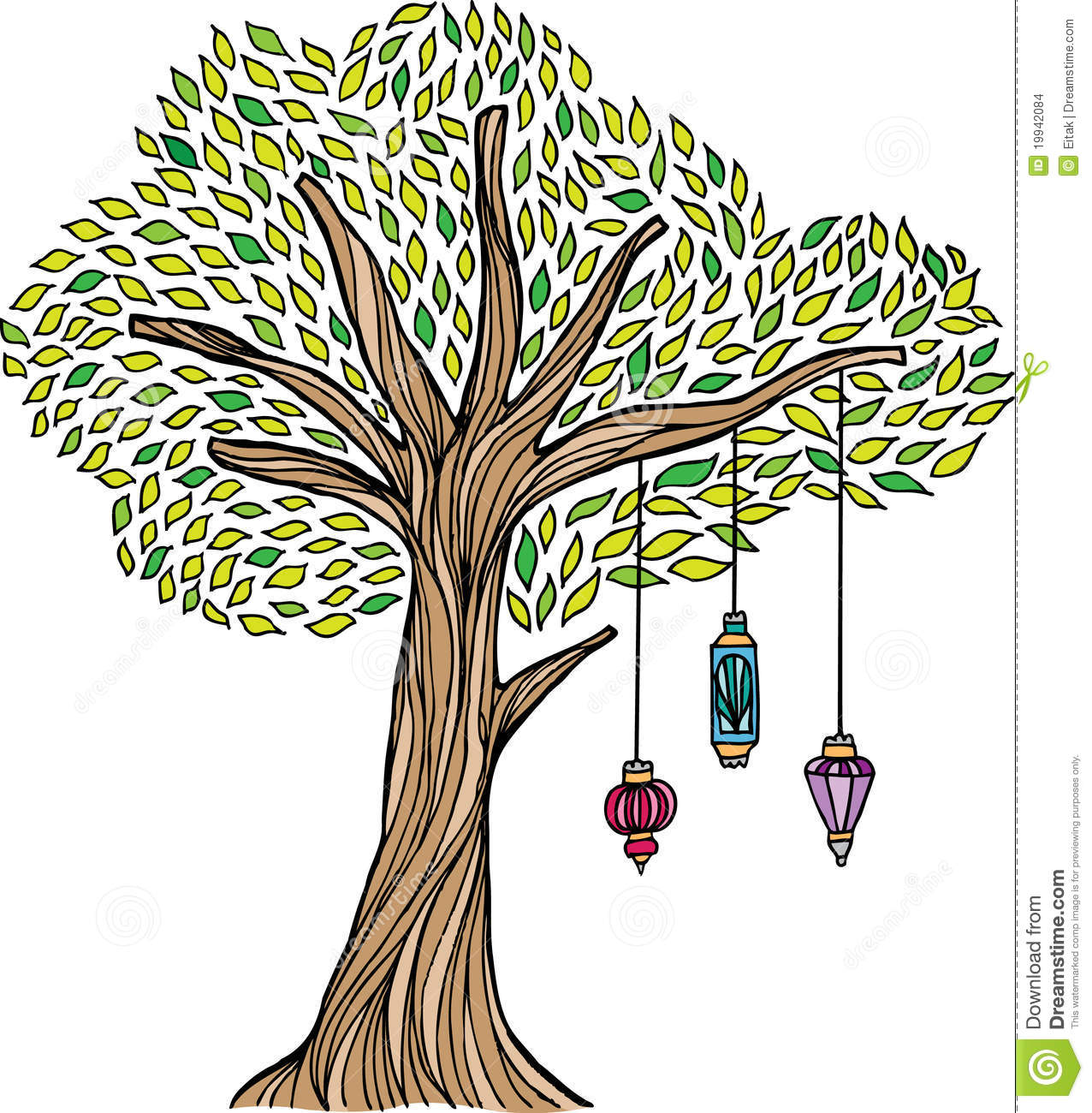 whimsical christmas tree clip art free - photo #50