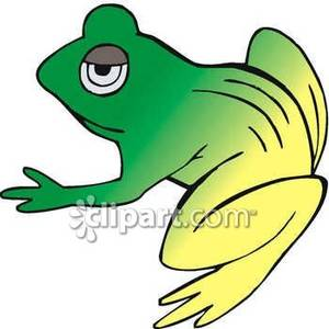 Green And Yellow Toad   Royalty Free Clipart Picture