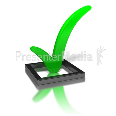 Green Check Mark In Box   Signs And Symbols   Great Clipart For