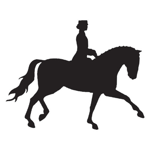 Horse silhouette dressage - photo#6