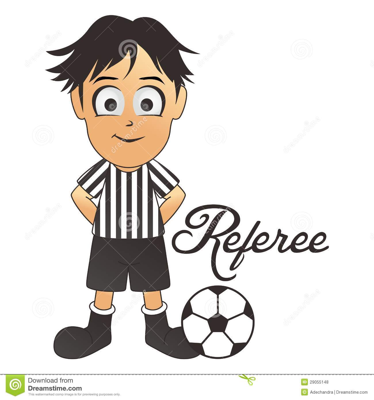Clip Art Referee Clipart soccer referee clipart kid cartoon royalty free stock photos image 29055148